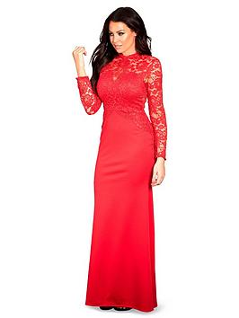 sistaglam-loves-jessica-lace-top-bodyconnbspscuba-maxi-dress-red