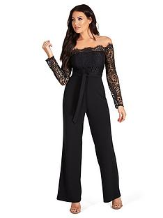 sistaglam-loves-jessica-lace-top-off-the-shoulder-wide-leg-jumpsuit-black