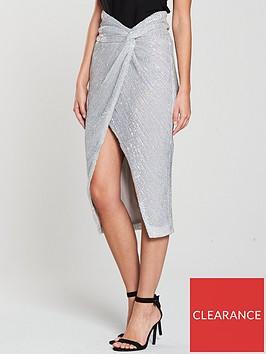lavish-alice-iridescentnbspsequin-twisted-front-midi-skirt-silver
