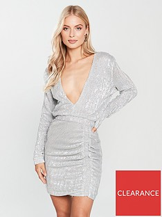 Lavish Alice Sequin Mini Dress - Silver Iridescent 680f01991