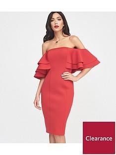 lavish-alice-exaggerated-double-frill-sleeve-bardot-scuba-midi-dress-red