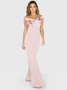 little-mistress-sequin-mesh-maxi-dress-rose