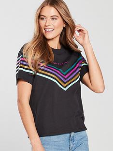wrangler-rainbow-t-shirt-black