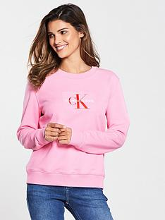 calvin-klein-monogram-flock-crew-neck-sweat-begonia-pink