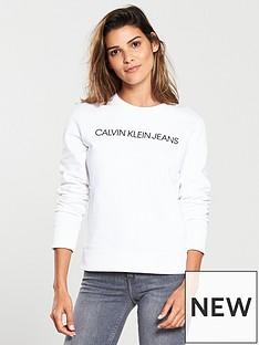 calvin-klein-institutional-printed-crew-neck-sweat-shirt-top-whitenbsp