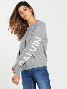 calvin-klein-institutional-back-logo-knit-jumper-grey