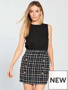 ax-paris-2-in-1-tweed-mini-dress