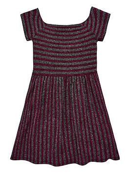 v-by-very-girls-glitter-stripe-bardot-party-dress