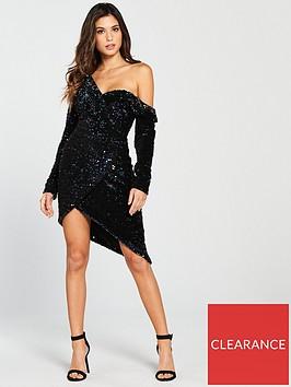 lavish-alice-sequin-velvet-off-the-shoulder-mini-dress-blue