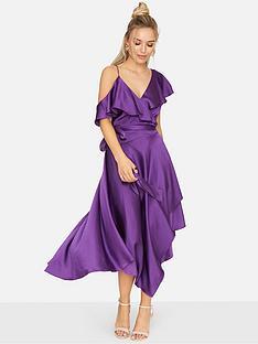 girls-on-film-satin-asymmetric-dress-purple