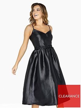 little-mistress-lurex-jacquard-skater-dress-blacknbsp