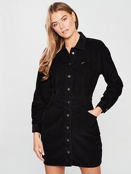 Wrangler Black Cord Western Dress