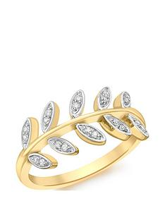 love-gold-9ct-gold-white-cubic-zirconia-vine-ring
