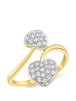 love-gold-9ct-gold-white-cubic-zirconia-entwined-hearts-ring