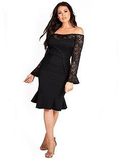 sistaglam-loves-jessica-lace-and-scuba-mixxnbspoff-the-shoulder-bodycon-midi-dress-black