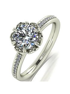 moissanite-9ctnbspgold-12ct-eq-moissanite-solitaire-flower-ring-with-set-shoulders
