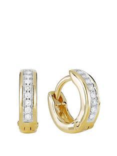 love-diamond-gold-plated-sterling-silver-8-point-diamond-huggie-hoop-earrings