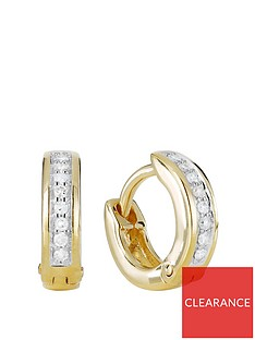 love-diamond-gold-plated-sterling-silver-8-point-diamond-huggie-hoop-earrings
