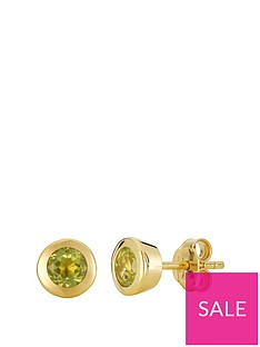 love-gem-gold-plated-sterling-silver-round-peridot-stud-earrings