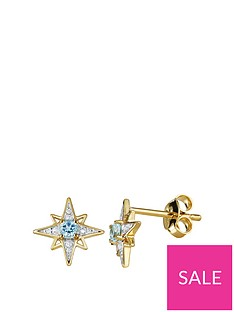 love-gem-gold-plated-sterling-silver-blue-topaz-diamond-set-star-stud-earrings