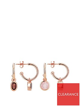 love-gem-rose-gold-plated-sterling-silver-hoop-earrings-with-interchangeable-rose-smoky-quartz-gemstones