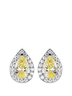 love-gem-sterling-silver-cubic-zirconia-yellow-teardrop-halo-stud-earrings
