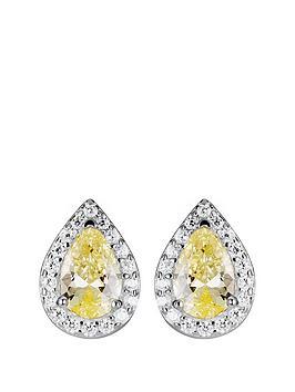 love-gem-sterling-silver-cubic-zirconia-yellow-teardrop-halo-stud-earrings