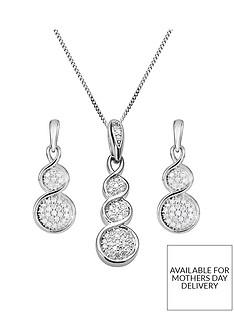 love-diamond-9ct-white-gold-graduated-15-point-diamond-pendant-necklace-earrings-set