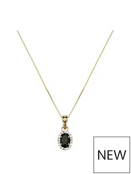 love-gem-9ct-gold-sapphire-amp-5-point-diamond-halo-pendant-necklace