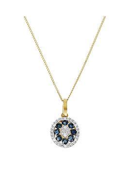 love-gem-9ct-gold-sapphire-diamond-set-round-pendant-necklace