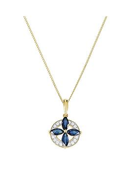 love-gem-9ct-gold-marquise-sapphire-8-point-diamond-round-pendant-necklace