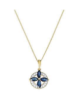 love-gem-9ct-gold-marquise-sapphire-amp-8-point-diamond-round-pendant-necklace