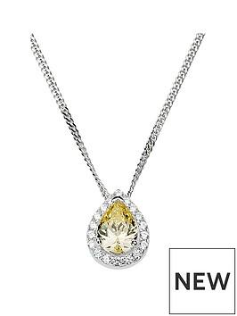 love-gem-sterling-silver-cubic-zirconia-yellow-teardrop-halo-pendant-necklace