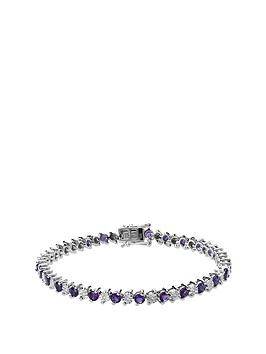 love-gem-rhodium-plated-sterling-silver-amethyst-amp-10-point-diamond-bracelet