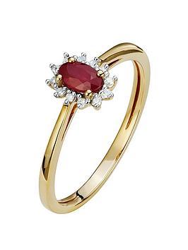 love-gem-9ct-gold-diamond-set-created-ruby-halo-ring