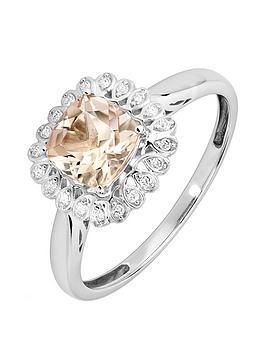 love-gem-9ct-white-gold-5-point-diamond-amp-cushion-cut-morganite-ring