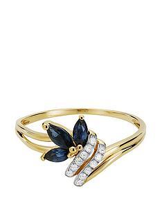 love-gem-9ct-gold-6-point-diamond-amp-marquise-sapphire-ring