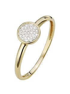 love-diamond-9ct-gold-4-point-diamond-cluster-ring