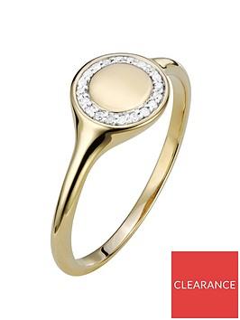 love-diamond-9ct-gold-4-point-diamond-round-signet-ring