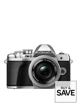 olympus-om-d-e-m10-mk-iii-silver-camera-14-42mm-ez-pancake-40-150mm-r-lens