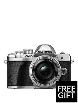olympus-om-d-e-m10-mk-iii-silver-camera-14-42mm-ez-pancake-40-150mm-r-lenswith-free-cs-51b-case-worth-pound4999