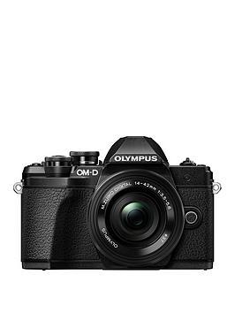 olympus-olympus-om-d-e-m10-mk-iii-black-camera-14-42mm-ez-pancake-40-150mm-r-lens