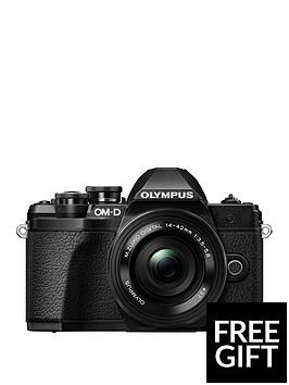 olympus-olympus-om-d-e-m10-mk-iii-black-camera-14-42mm-ez-pancake-40-150mm-r-lensnbspwith-free-cs-51b-case-worth-pound4999