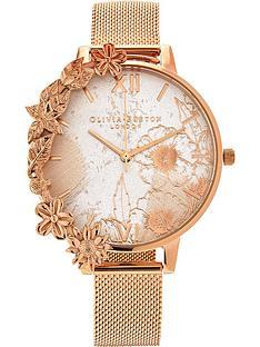 olivia-burton-case-cuff-abstract-florals-mesh-strap-watch--nbsprose-gold