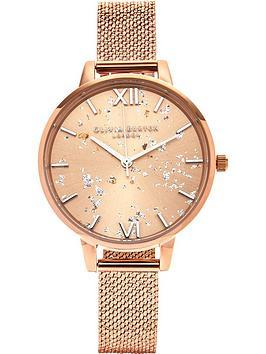 olivia-burton-celestial-demi-dial-boucle-mesh-watch-rose-gold