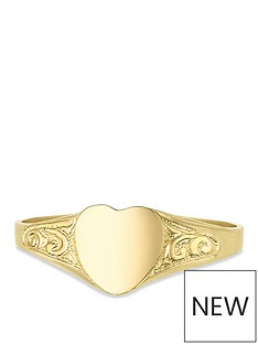 love-gold-9ct-gold-heart-shape-children039s-signet-ring-with-engraved-pattern-shoulders