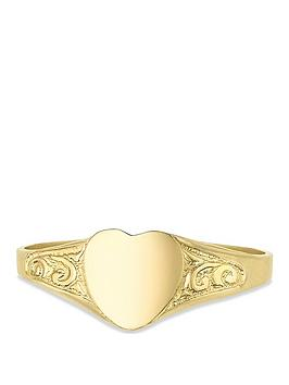 love-gold-9ct-gold-heart-shape-childrens-signet-ring-with-engraved-pattern-shoulders
