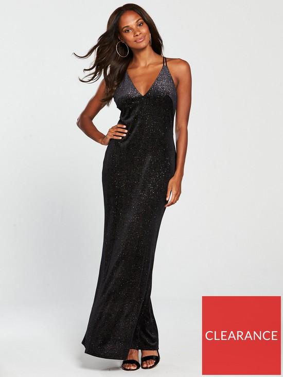 a1c6a04830e20c COAST Kay Sparkle Velvet Maxi Dress - Black