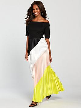 coast-coast-rockafella-colour-block-pleated-dress