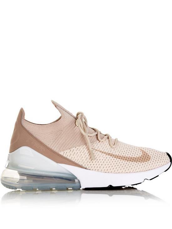 finest selection f4d48 dd50d Nike Air Max 270 Flyknit Trainers - Beige | very.co.uk